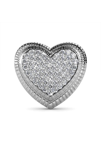 Her Jewellery silver Riley Love Brooch - Made with premium grade crystals from Austria 0BF50ACF4ECF58GS_1