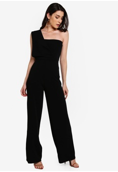 ed451bff8 18% OFF MISSGUIDED One Shoulder Drape Jumpsuit S$ 54.90 NOW S$ 44.90 Sizes  6 8 10 12 14