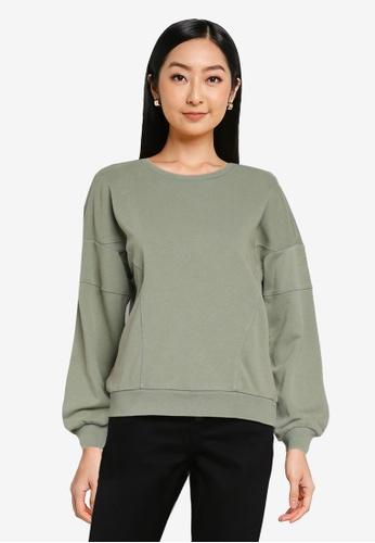 ONLY green Lavender Long Sleeves Sweatshirt CA57DAA4E0752DGS_1