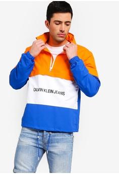 c9c7551551f Calvin Klein multi Institutional Logo Pop Over Jacket 744CFAA9151001GS_1
