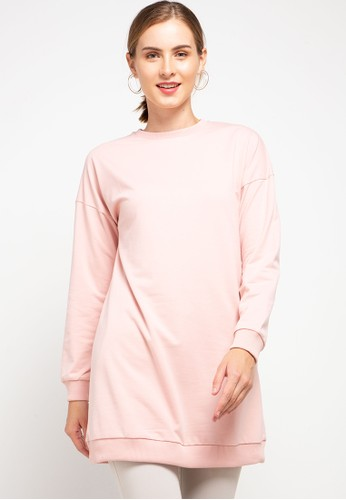 Tolliver pink Oversized Basic Sweatshirt A4703AA84F2CA4GS_1