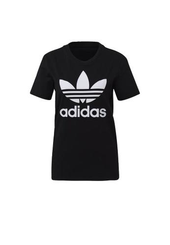 ADIDAS black adidas Originals Trefoil Tee 82B99AA1C3264AGS_1