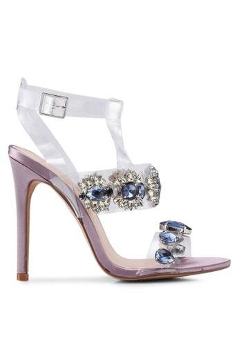 Public Desire purple Bluebell Jewel Perspex High Heels DABAFSH6CB9E06GS_1