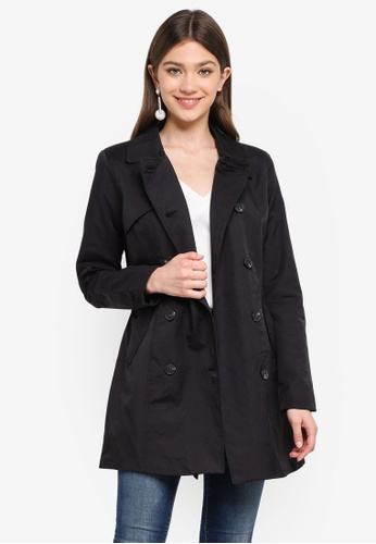 ONLY black Lucy Long Trench Coat C682FAA9854D9CGS_1