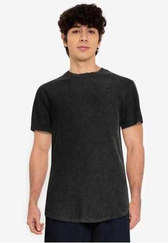 Hollister black Crew T-Shirt 90413AA13E618EGS_1