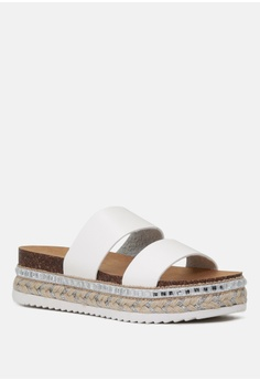 1fdec9c9d80 11% OFF London Rag Double Strap Flatform Wedges S  54.99 NOW S  48.99  Available in several sizes