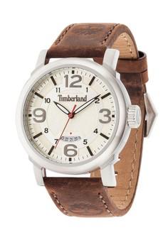 harga Timberland Jam Tangan Pria - Brown Silver - Leather Strap - 14815JS/07 Zalora.co.id