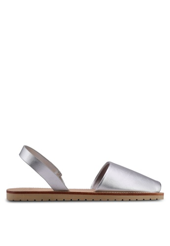 Velvet silver Metallic Sandals D9B04SH4D0ECFCGS_1