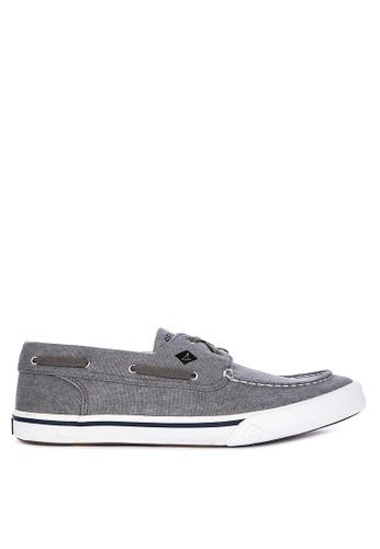 Sperry grey Bahama II Boat Sneakers 0BB50SH1A9BD9DGS_1