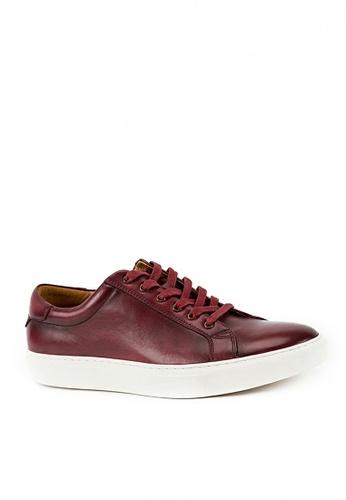 Twenty Eight Shoes 紅色 復古真皮手工擦色波鞋0072C 56995SHDF4DAE1GS_1