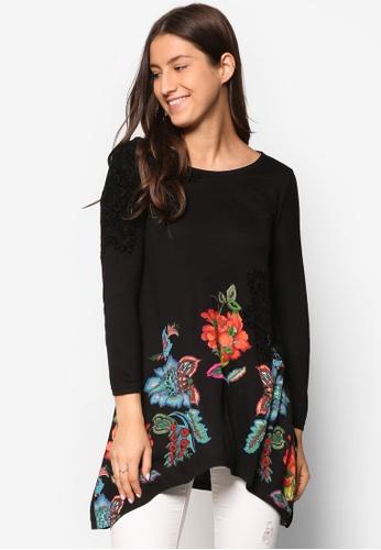 Desigual black Ramona Long Sleeve Blouse DE160AA43FBKMY_1