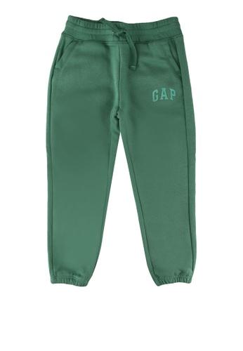 GAP green Fleece Logo Cinch Joggers 11BA8KA9C39FA6GS_1