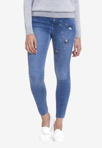 LC WAIKIKI blue Stone Embroidered Jeans BF2DAAAEAA03B9GS_1