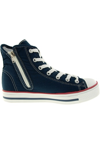 Maxstar navy Maxstar Women's C1 7 Holes Canvas High Top Casual Sneakers US Women Size MA164SH29PTESG_1