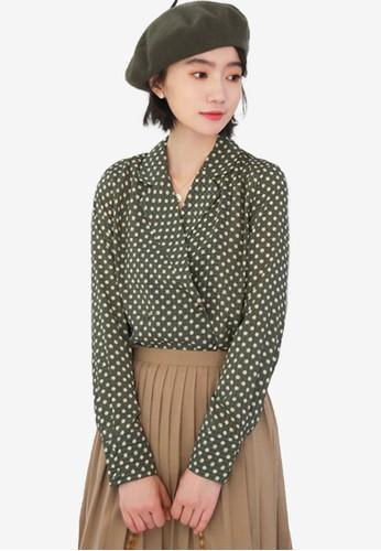 Shopsfashion green Polka Dot Shirt BF9F5AAEACC1E1GS_1