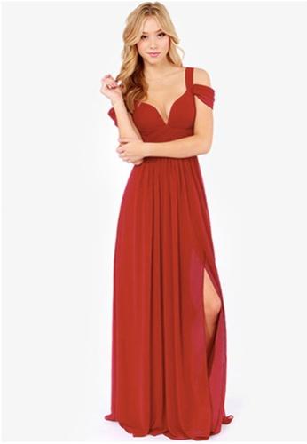 Seoul in Love red Tae Son Dress in Red SE496AA67XDCSG_1