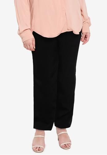 Ex'otico black Plus Size Basic Trouser F03E6AAE973F8BGS_1