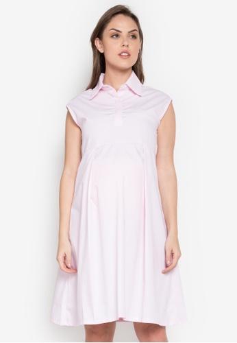 Hint pink Maternity Sleeveless Dress HI373AA0KJ8APH_1