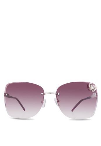 蝴蝶飾大框太陽眼鏡, 飾品esprit門市地址配件, 方框