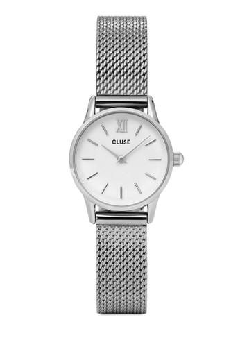 La Vedette CL50005 奢華網格不銹鋼圓錶, 錶類, 飾品配esprit outlet台北件