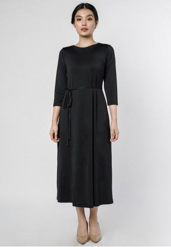 DARA black Kayla Tie Dress in Black 3CC0BAA3678B5AGS_1