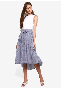 25b19d51e2 Max Studio Hi Low Skirt With Bow S$ 59.90. Sizes XS S M L XL