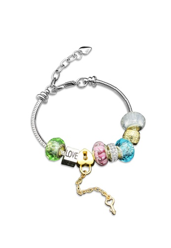 Her Jewellery silver Swarovski® Crystals - Colorful Charm Bracelet (Blue)(18K White Gold Plated) Her Jewellery  HE581AC0RCCKMY_1