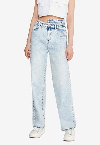 Urban Revivo blue Denim Jeans A2E09AAC6BFD58GS_1