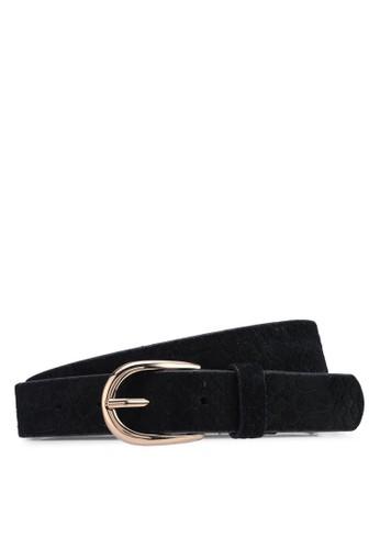 Pieces black Kera Suede Jeans Belt F3761ACF358836GS_1