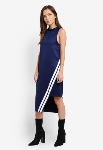 Something Borrowed navy Stripe Trim Asymmetric Dress DD2DBZZ81D15DAGS_1