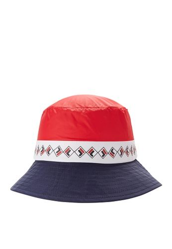 FILA navy FILA KIDS Colour Blocks F-box Logo Bucket Hats B7403KC1D49B56GS_1