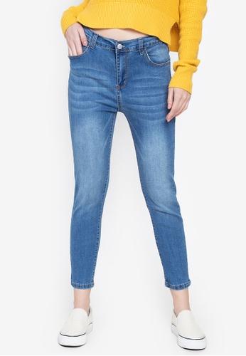 Balaynor blue Plus size Faded Denim Jeans 518AFAA0667FC2GS_1