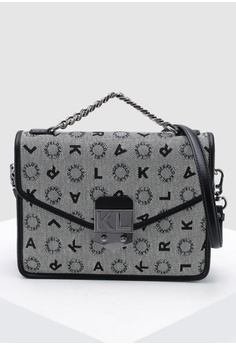 754291e74 KARL LAGERFELD black Jacquard Shoulder Bag 0AAE5ACFC3DDE9GS_1