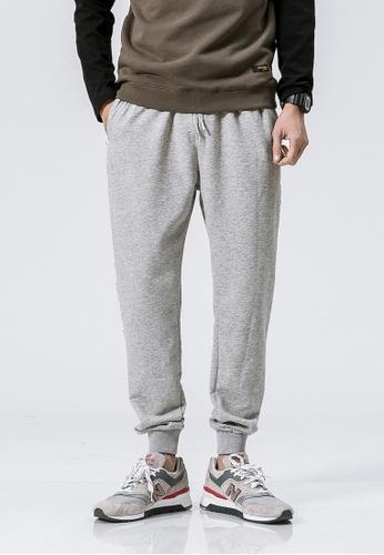 hk-ehunter grey Casual Regular Fit Jogger Pants 744BEAADADECE3GS_1