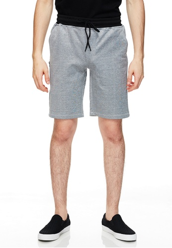 Life8 灰色 Casual Waterproof Zipper Japan Style Contrast Color Shorts-02490-Light Grey A4A41AA43263B3GS_1