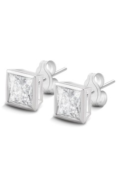 Kynda Square Stone K2754 Italy 925 Silver Earrings