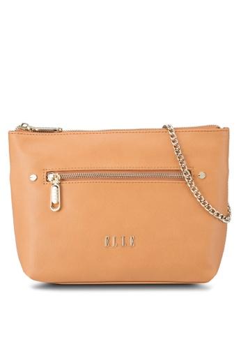 ELLE brown Adelise Shoulder Bag EL900AC94VXPMY_1