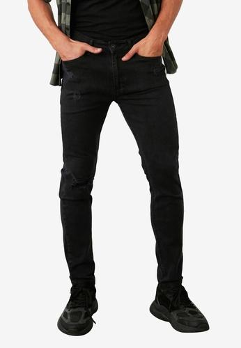 Trendyol black Distressed Tapered Skinny Jeans 3B3ADAAC751CF1GS_1