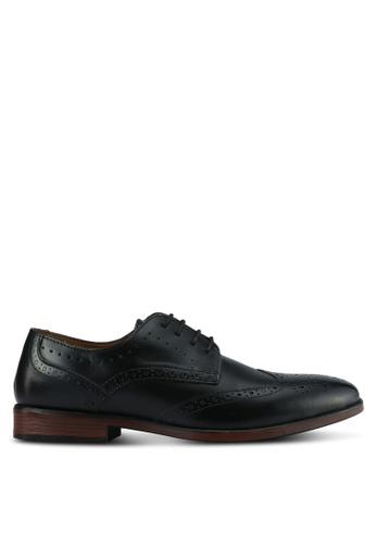 Burton Menswear London black Black Leather Brogue AACDASHD0FD03FGS_1