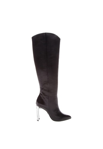 Schutz black SCHUTZ Leather Long Boots - KAITLYN (BLACK) 761A1SH6158574GS_1