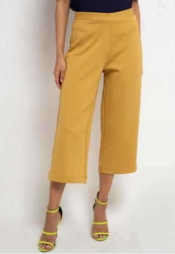 Korz yellow Knit Cullote 160AAAA95B3F70GS_1