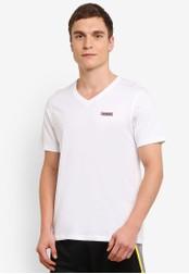 2GO white Half Sleeve V-Neck T-Shirt 2G729AA0S5Z6MY_1