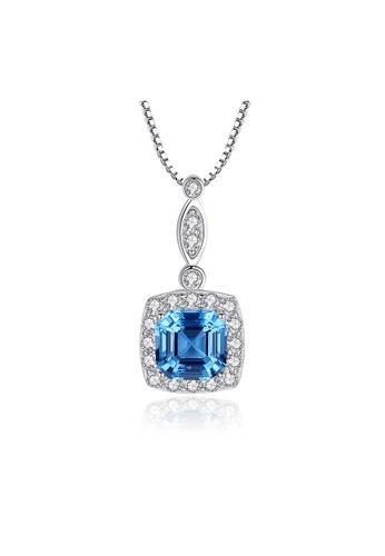 SUNRAIS silver Premium Silver S925 Silver Simple Design Necklace B7559ACDE37127GS_1