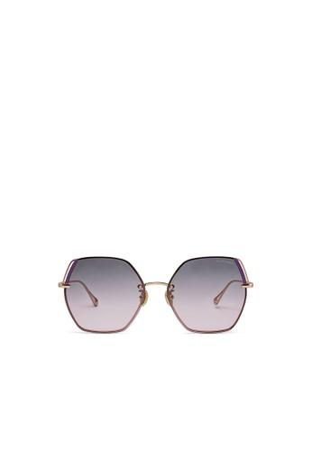 Jill Stuart gold JILL STUART Ellie JS10042 Angular Metal Sunglasses DBEDBGL7FA5FFAGS_1