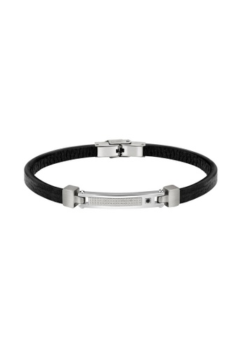 Morellato black Morellato Moody Black Leather Bracelet With Crystals SQH26 00C2FACD938A87GS_1