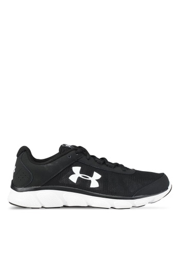 Under Armour black and white UA Micro G Assert 7 Shoes UN337SH0SUAAMY_1