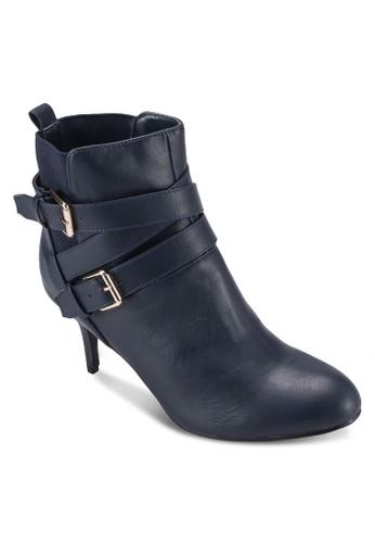 雙扣環高跟踝靴、 女鞋、 靴子Velvet雙扣環高跟踝靴最新折價