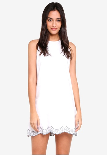 Something Borrowed white Embroidered Scallop Dress 6280AAA1081ACBGS_1