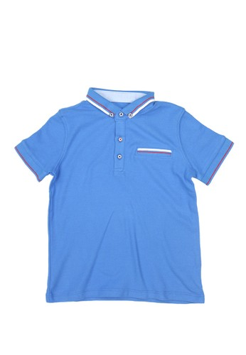 Gingersnaps blue Neo Japonique Polo Ibiza Blue DCB21KAB947950GS_1