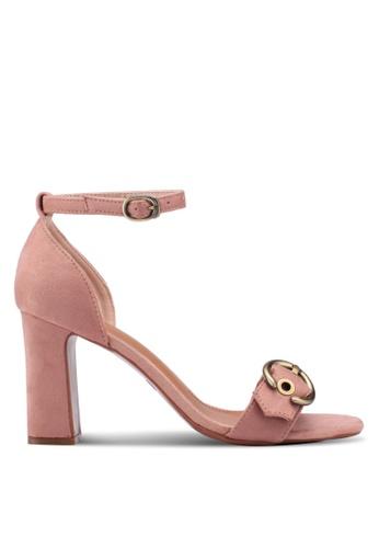 Something Borrowed pink Eyelet Ankle Strap Heels BB45BSHABB3B2CGS_1